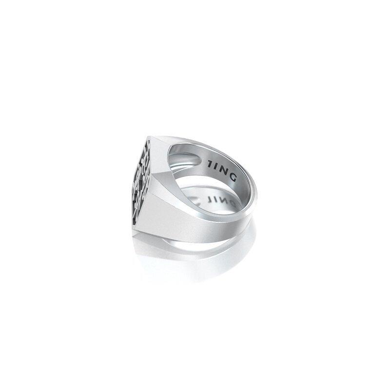 1ING[일링] 옥타곤 원링(각인) 은(Silver) 소재 L 사이즈 각인 후 각도별 컷 2