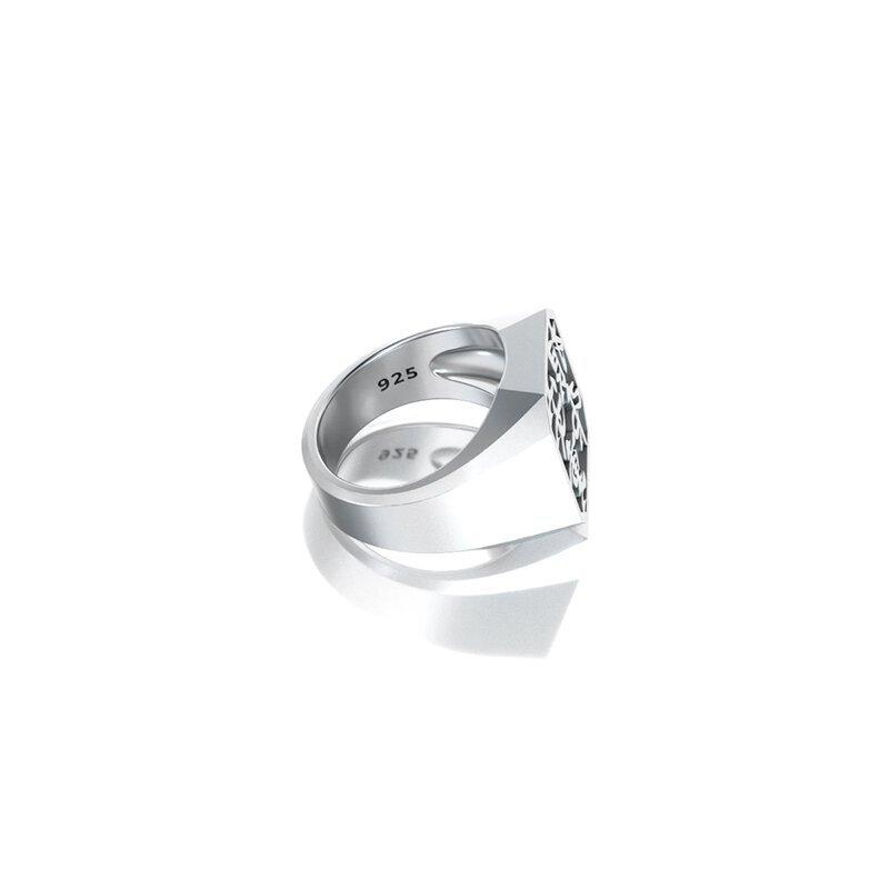 1ING[일링] 옥타곤 원링(각인) 은(Silver) 소재 L 사이즈 각인 후 각도별 컷 4
