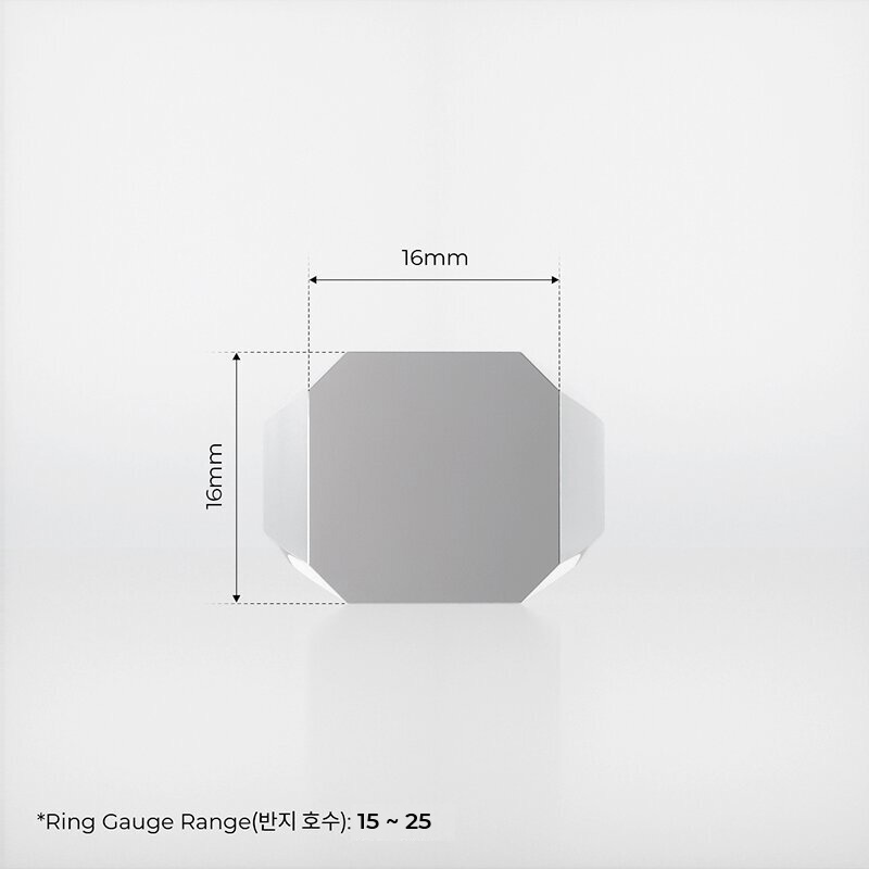 1ING[일링] 옥타곤 원링(각인) 은(Silver) 소재 L 사이즈 각인 전