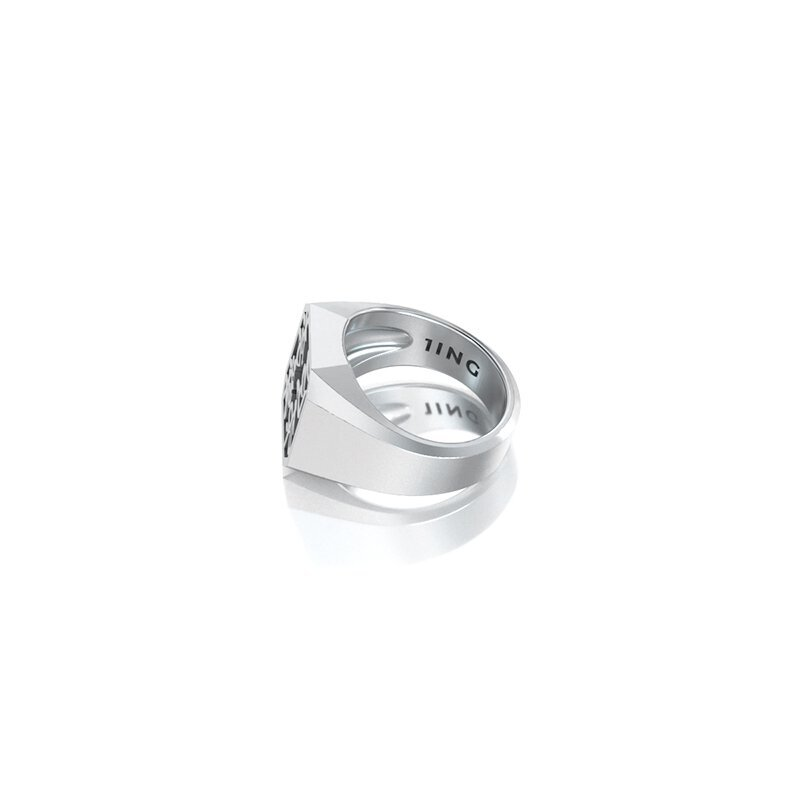 1ING[일링] 옥타곤 원링(각인) 은(Silver) 소재 M 사이즈 각인 후 각도별 컷 2