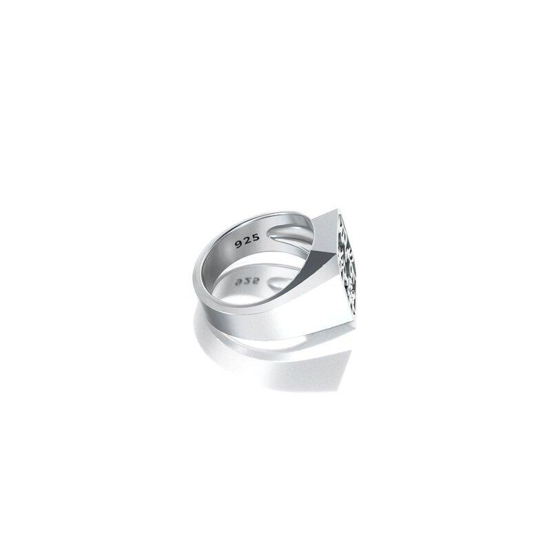1ING[일링] 옥타곤 원링(각인) 은(Silver) 소재 M 사이즈 각인 후 각도별 컷 4
