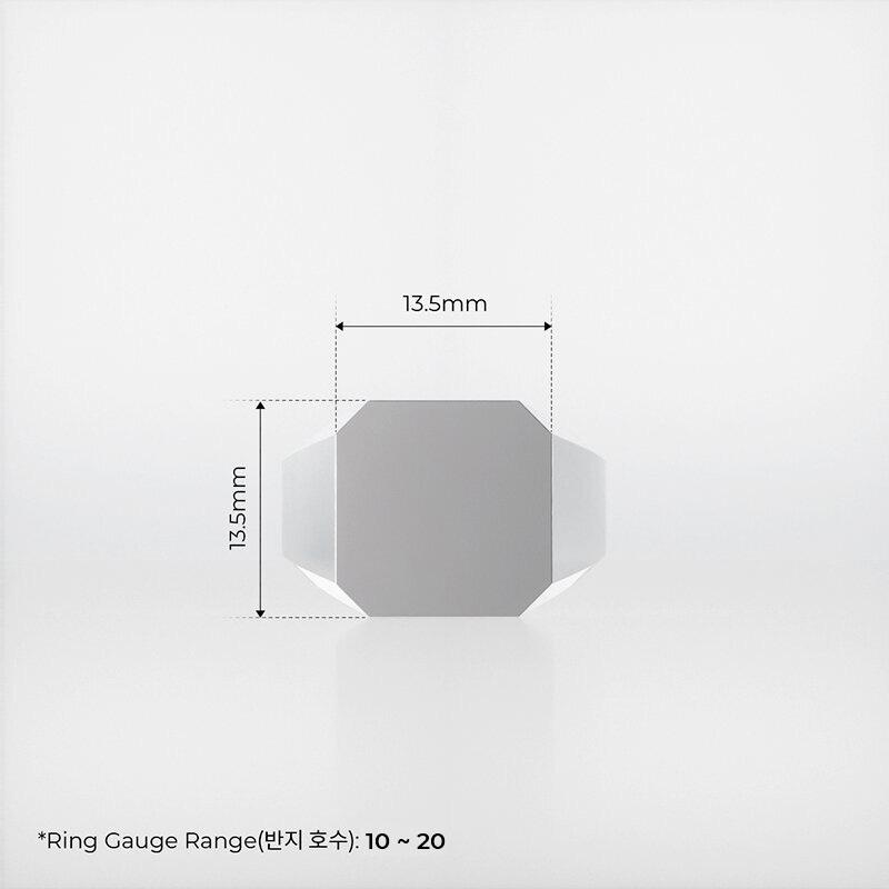 1ING[일링] 옥타곤 원링(각인) 은(Silver) 소재 M 사이즈 각인 전
