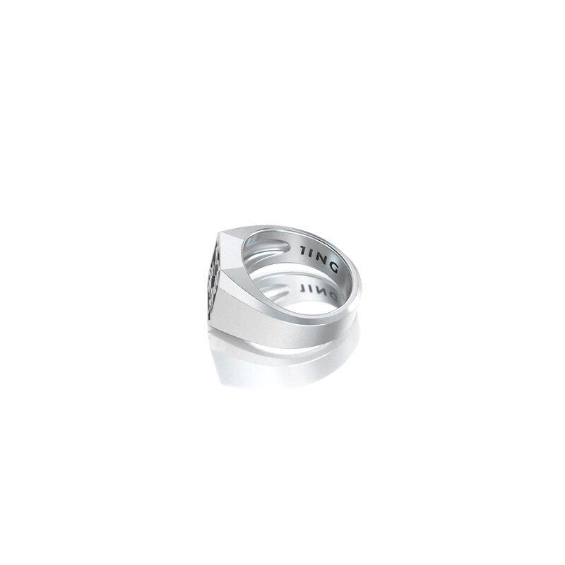 1ING[일링] 옥타곤 원링(각인) 은(Silver) 소재 S 사이즈 각인 후 각도별 컷 2