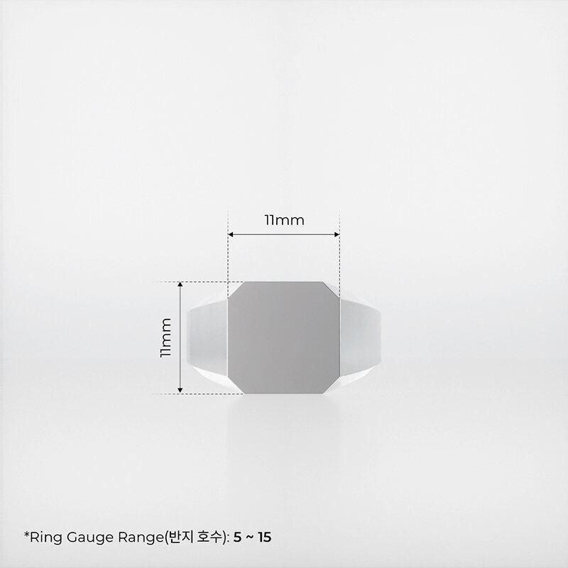 1ING[일링] 옥타곤 원링(각인) 은(Silver) 소재 S 사이즈 각인 전