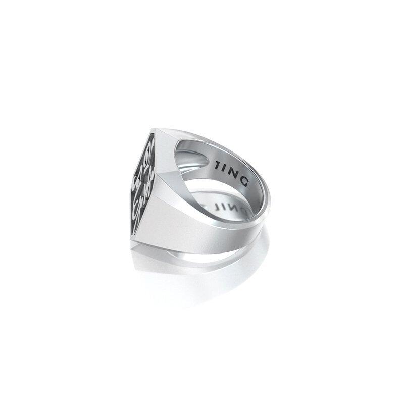 1ING[일링] 옥타곤 원링(각인) 은(Silver) 소재 XL 사이즈 각인 후 각도별 컷 2