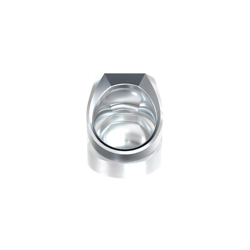 1ING[일링] 옥타곤 원링(각인) 은(Silver) 소재 XL 사이즈 각인 후 각도별 컷 3