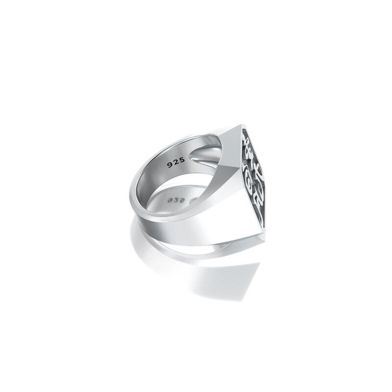 1ING[일링] 옥타곤 원링(각인) 은(Silver) 소재 XL 사이즈 각인 후 각도별 컷 4
