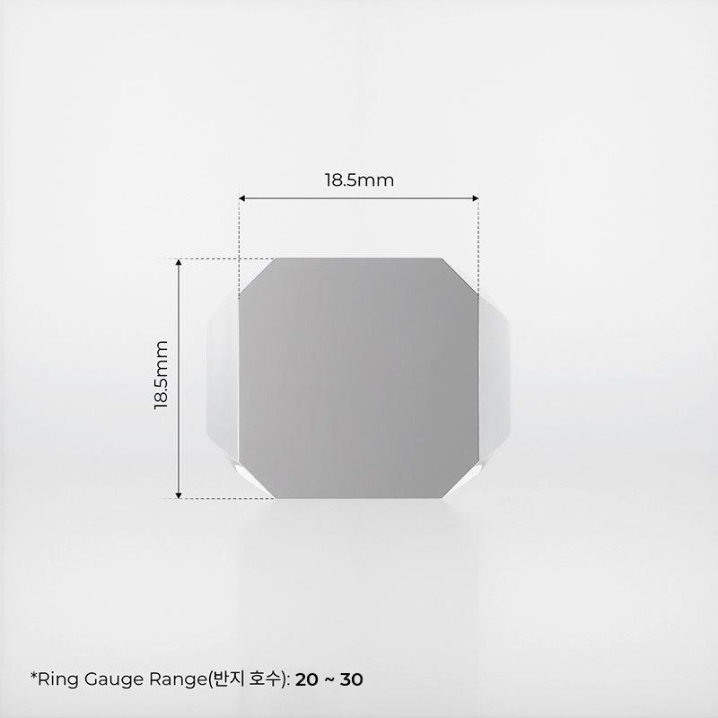 1ING[일링] 옥타곤 원링(각인) 은(Silver) 소재 XL 사이즈 각인 전