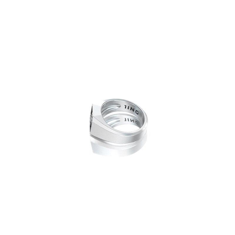 1ING[일링] 옥타곤 원링(각인) 은(Silver) 소재 XS 사이즈 각인 후 각도별 컷 2