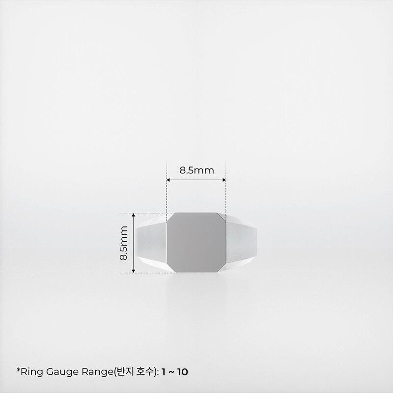 1ING[일링] 옥타곤 원링(각인) 은(Silver) 소재 XS 사이즈 각인 전