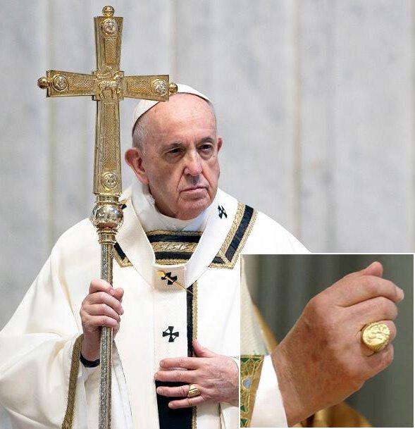시그닛링 예시 - 교황의 상징(어부의 반지)