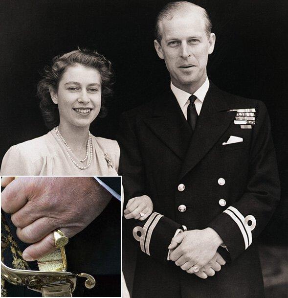 시그닛링 예시 - 영국 황실 결혼 반지