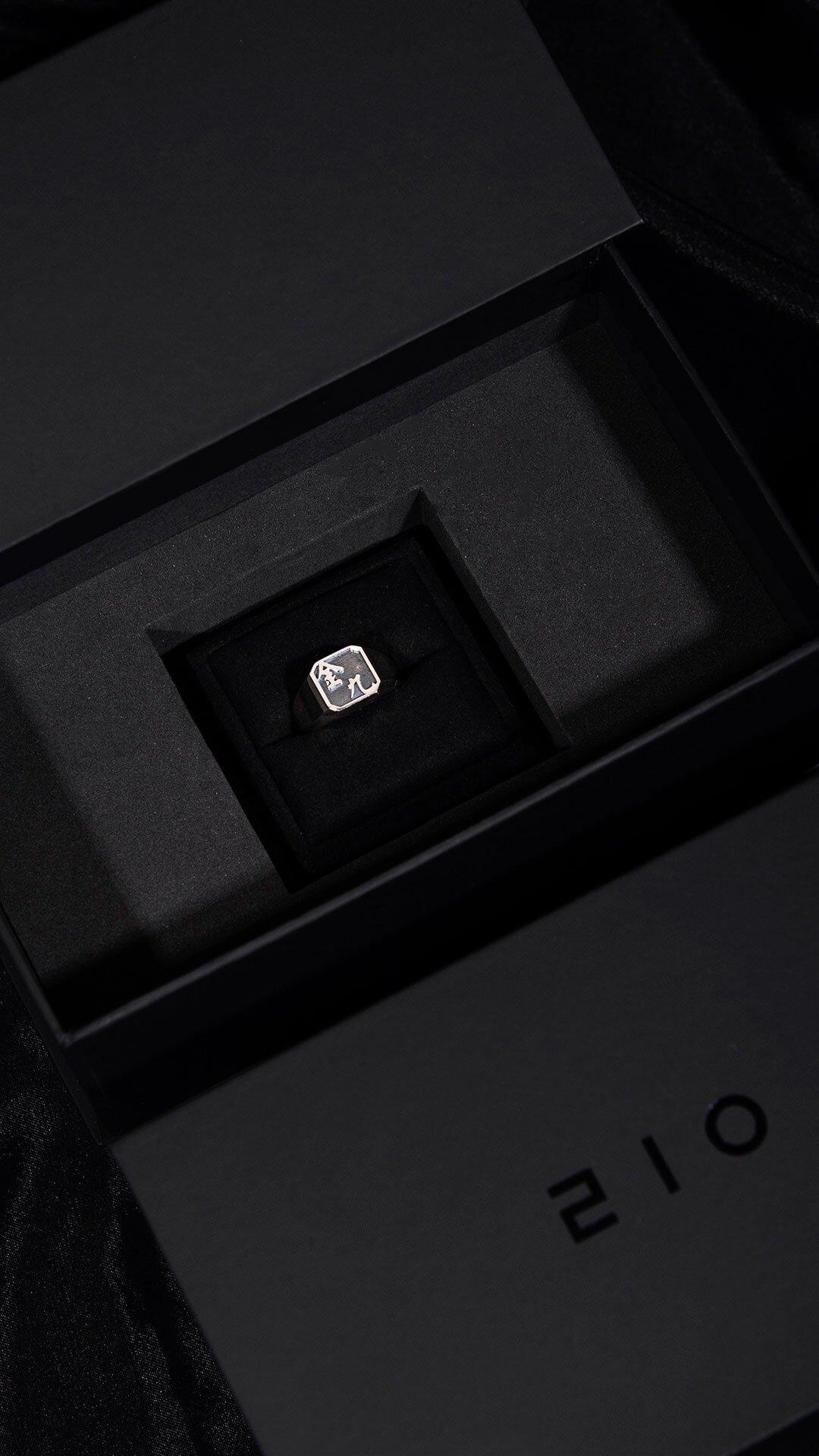 1ING[일링] 옥타곤 원링(각인) 은(Silver) 소재 컨셉 사진 3