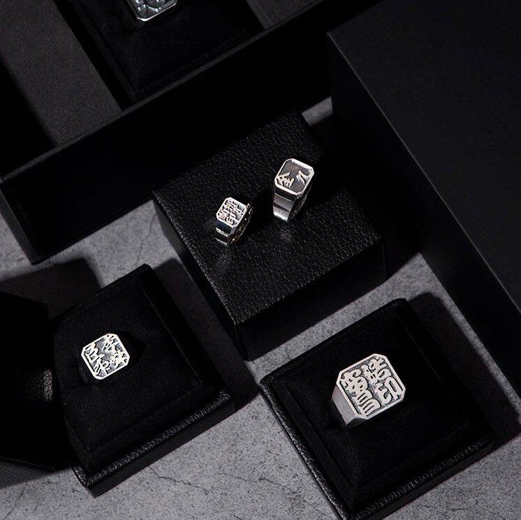 1ING[일링] 옥타곤 원링(각인) 은(Silver) 소재